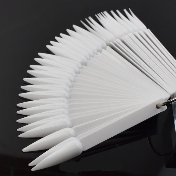 JUSTNAILS Display Tips Stiletto 40Stk. weiß