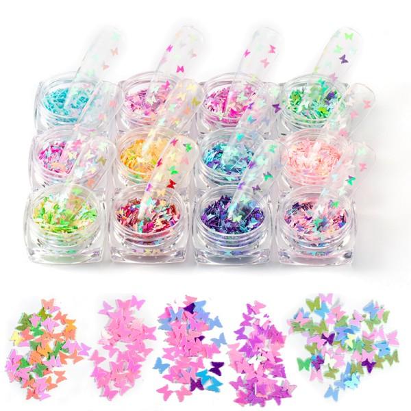 JUSTNAILS Butterfly Box Set Overlays Einlagen Schmetterlinge Nailart Set