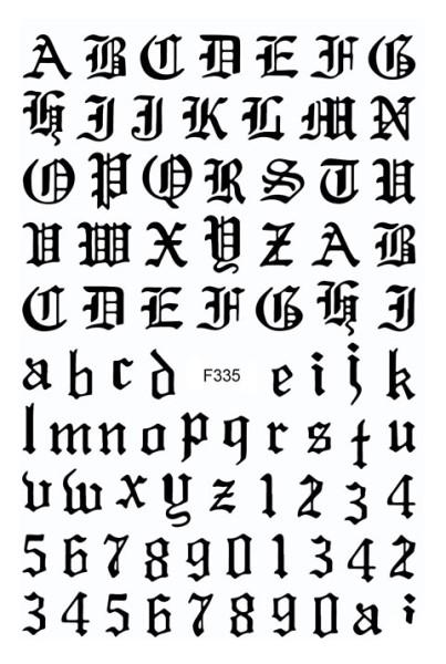 JUSTNAILS Sticker selbstklebend Buchstaben Letters schwarz