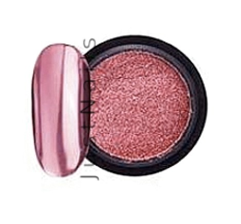 JUSTNAILS Mirror-Glow Nagel Pigment - Rosè Shine