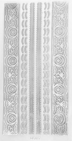 JUSTNAILS Sticker selbstklebend silber DC017