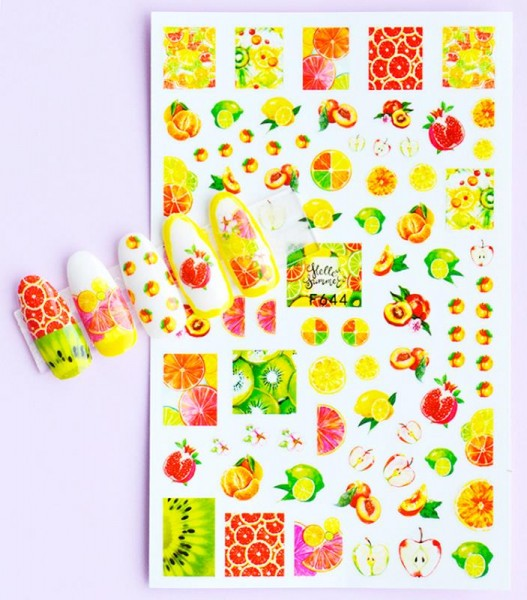 JUSTNAILS Sticker selbstklebend Fruits Summer